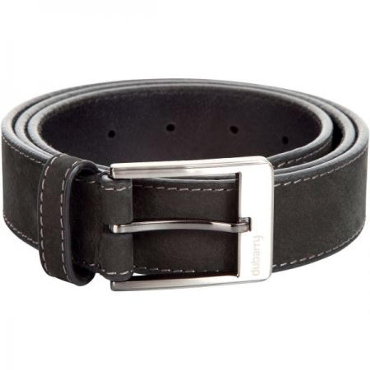 Dubarry Mens Leather Belt in Black
