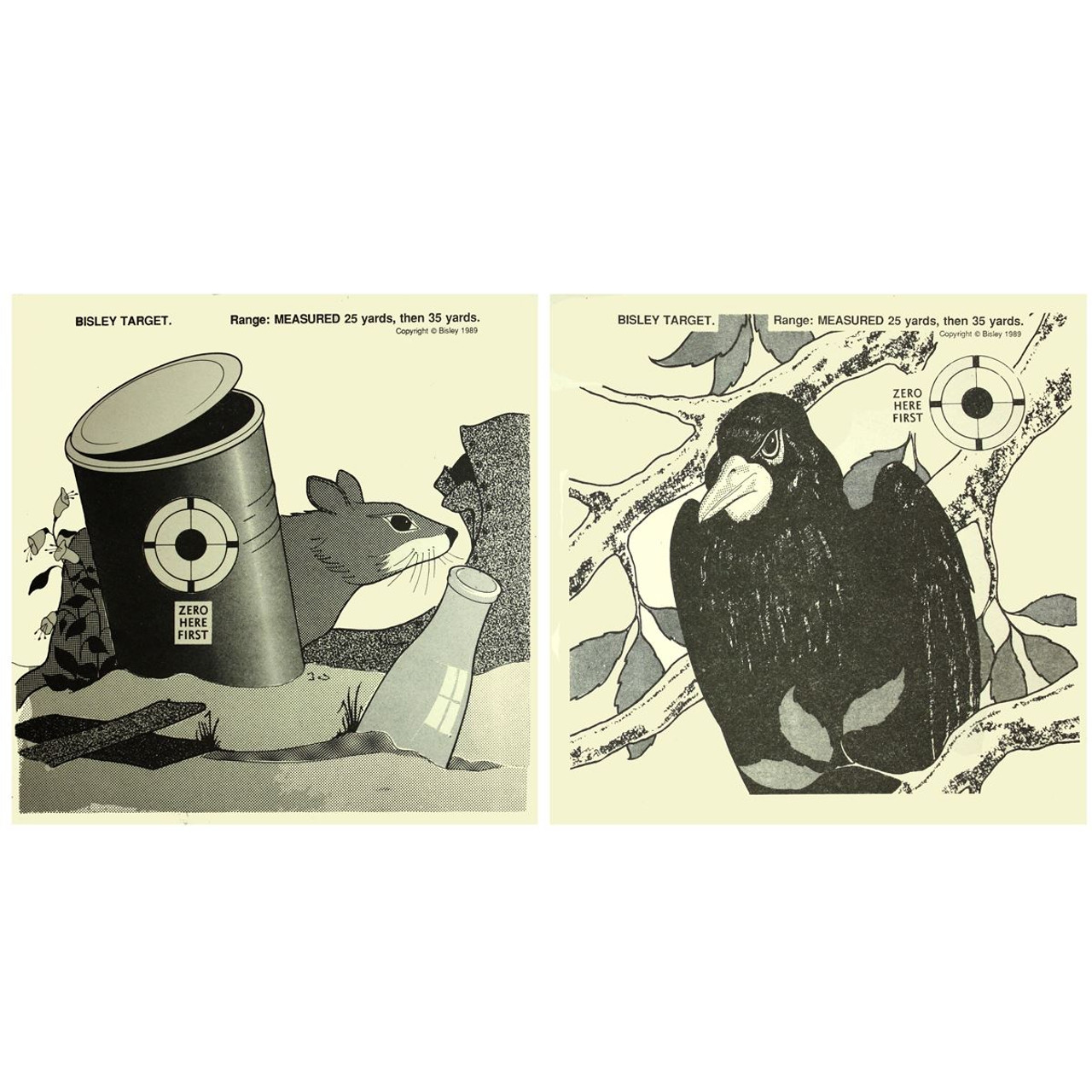 Bisley Rat / Crow Double Sided Paper Targets