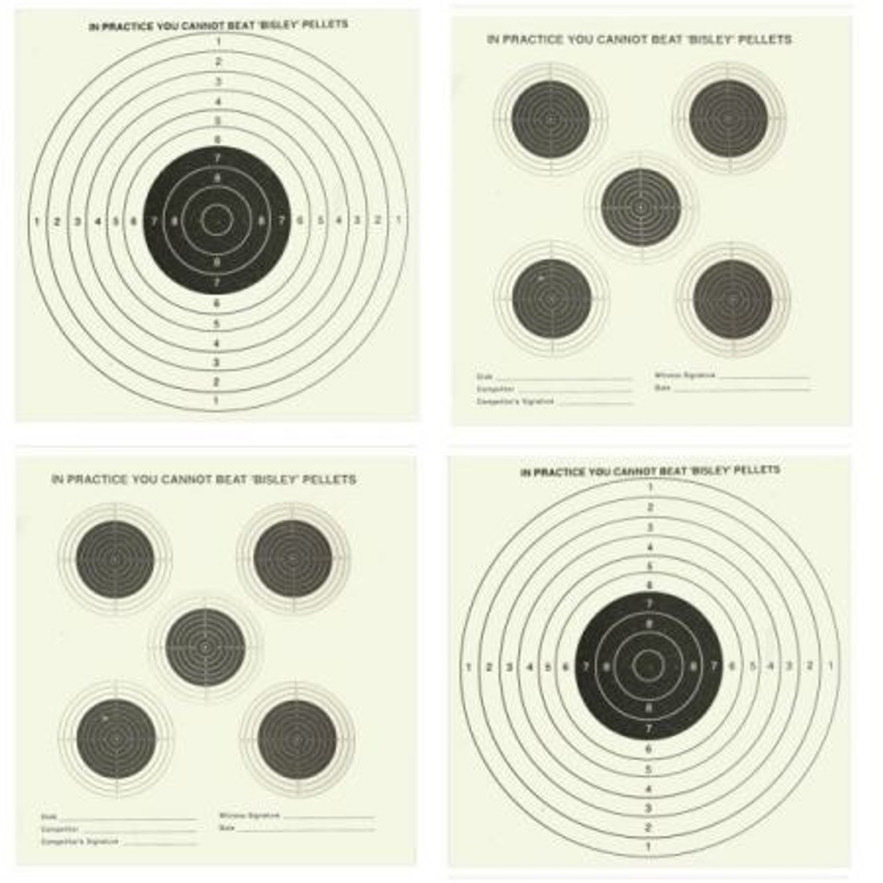 Bisley Double Sided Targets