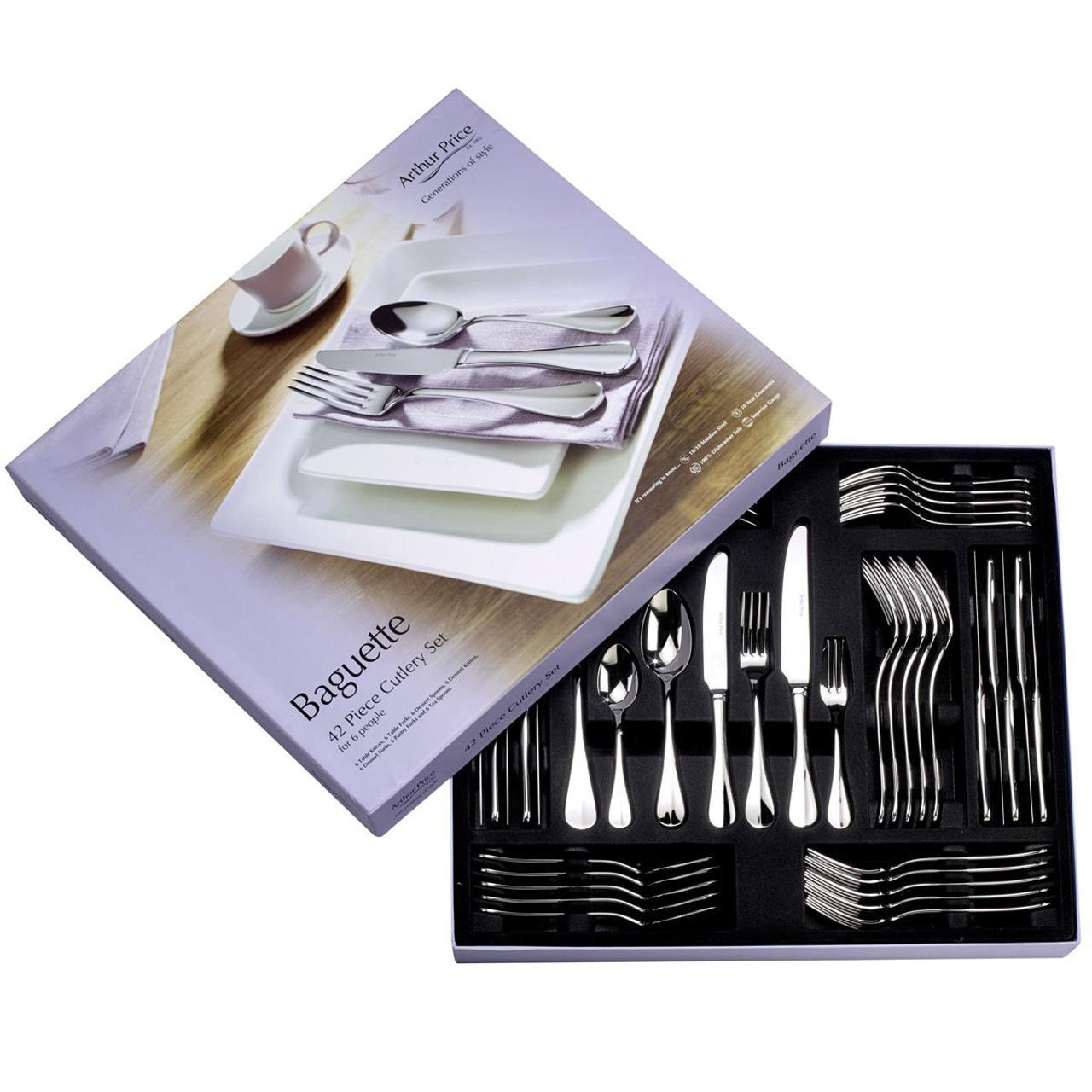 Arthur Price 42 Piece Baguette Cutlery Set