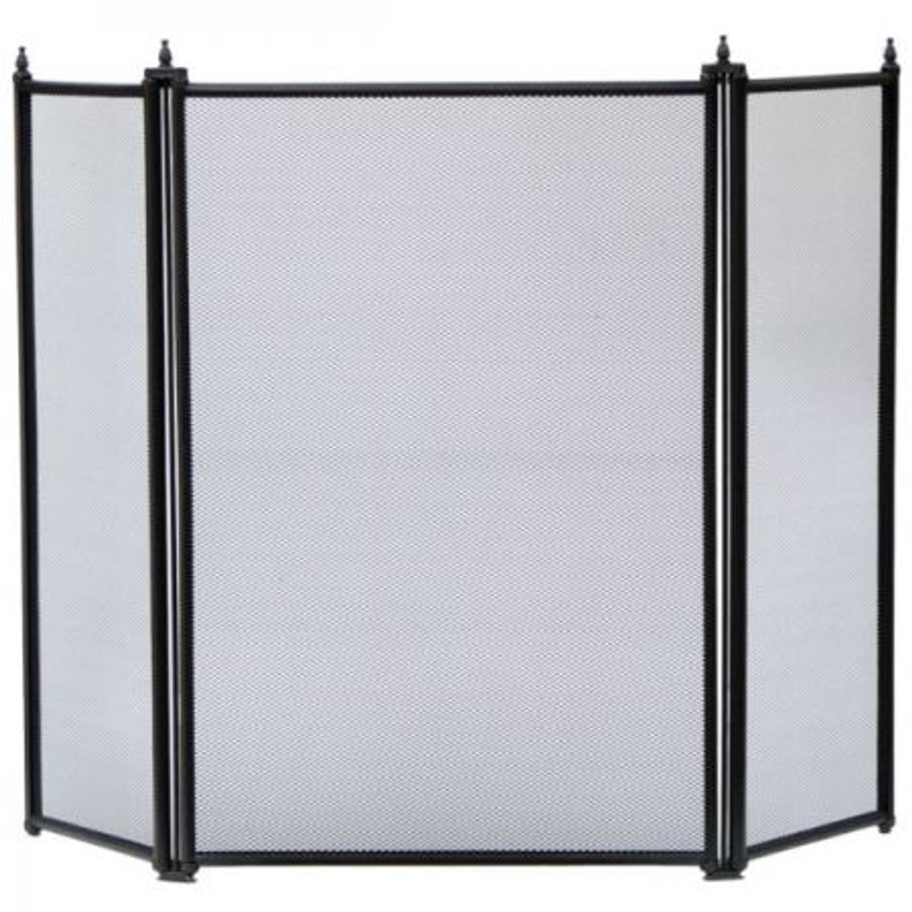 Black - Manor Regency 3 Fold Folding Fireguard
