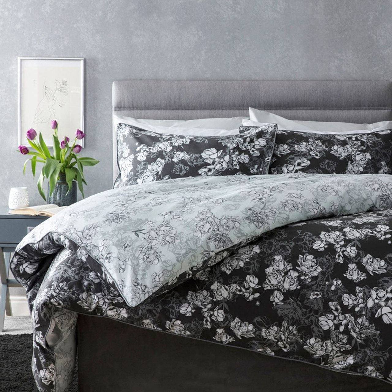 Charcoal - Belledorm Mila Duvet Set