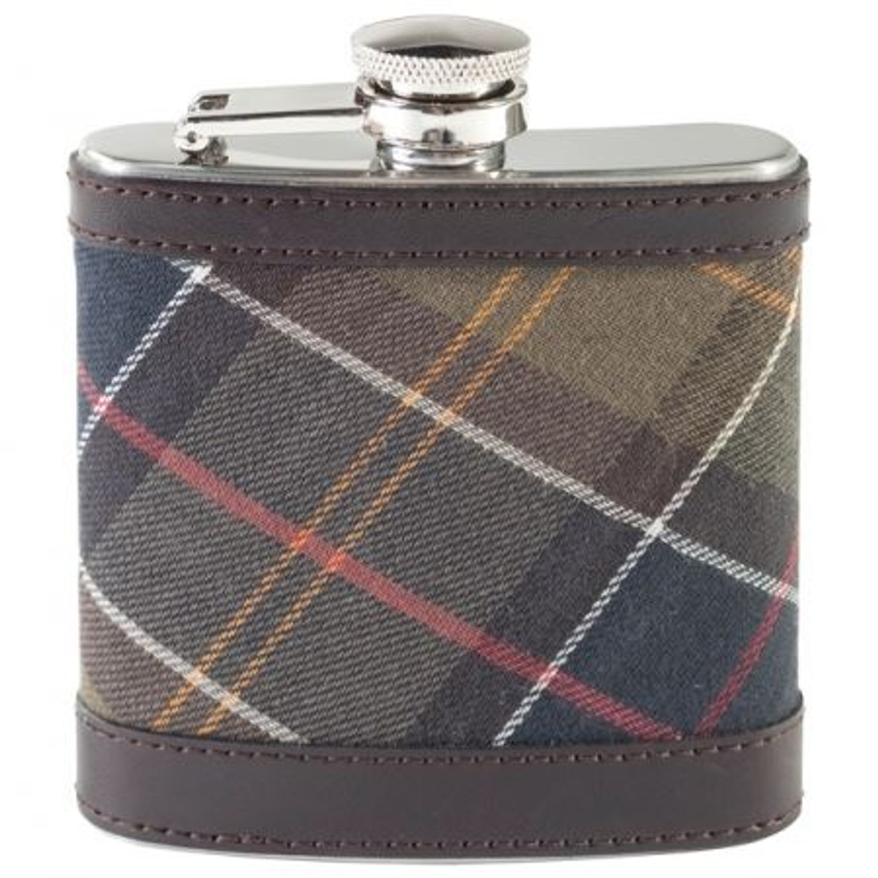 Barbour Hip Flask Classic Dark Brown