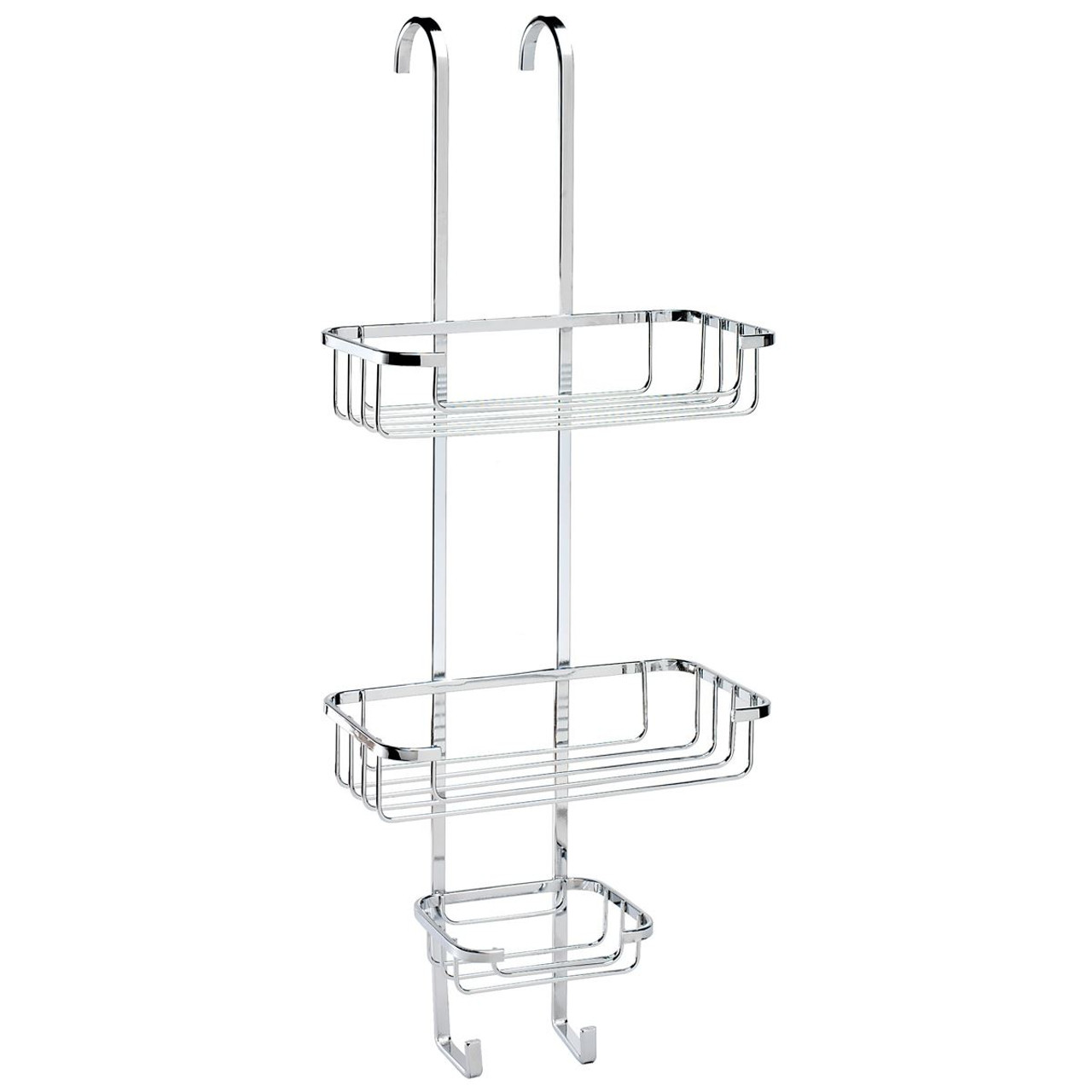 Croydex Wire Stainless Steel Hook Over Three Tier Basket