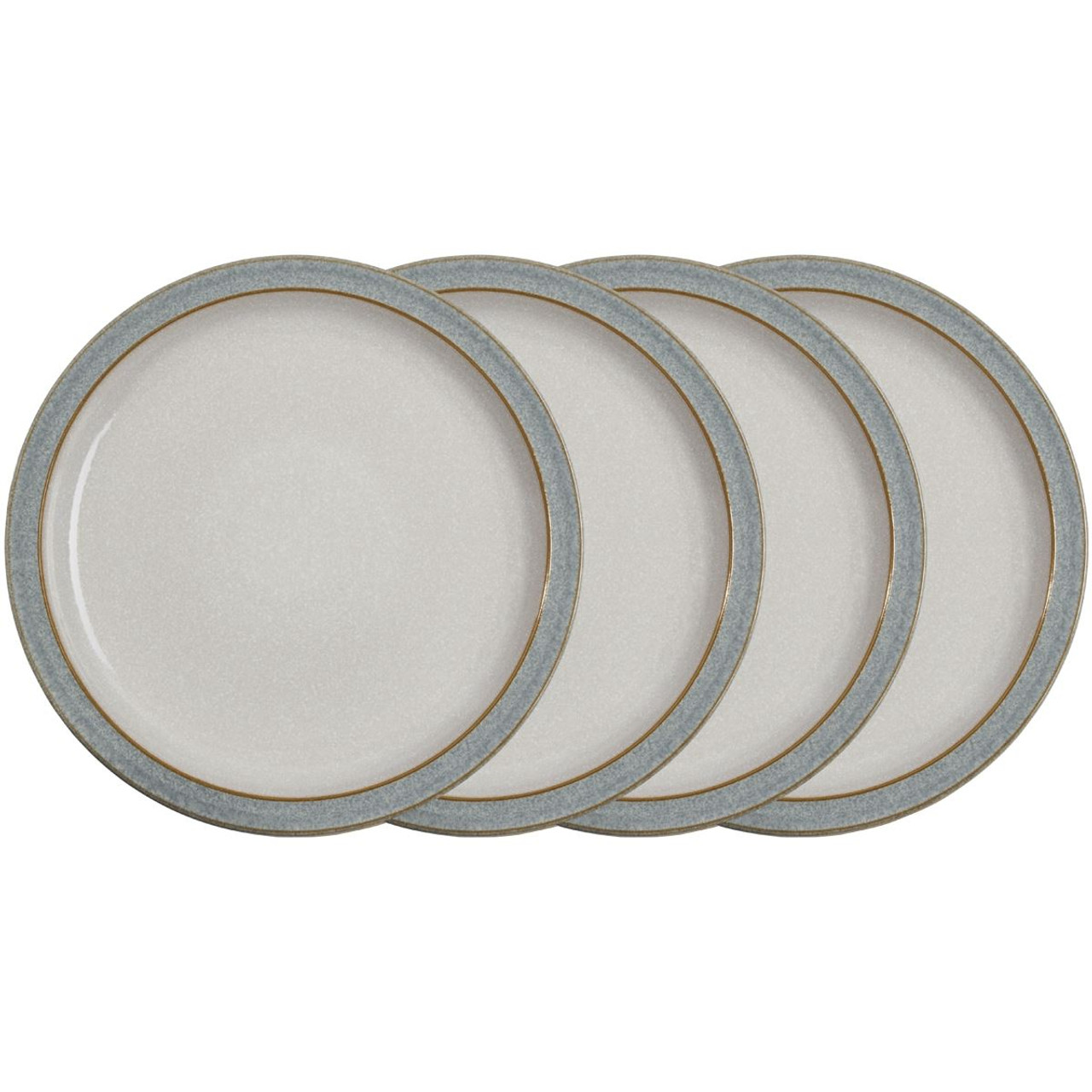 Denby Elements Light Grey 4 Piece Dinner Plate Set