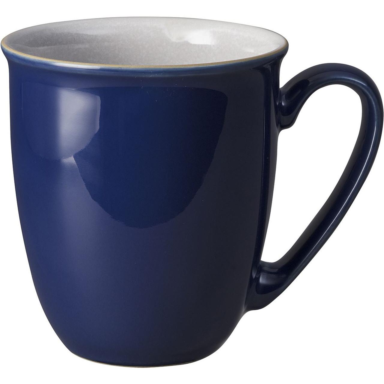 Denby Elements Coffee Beaker Mug in Dark Blue