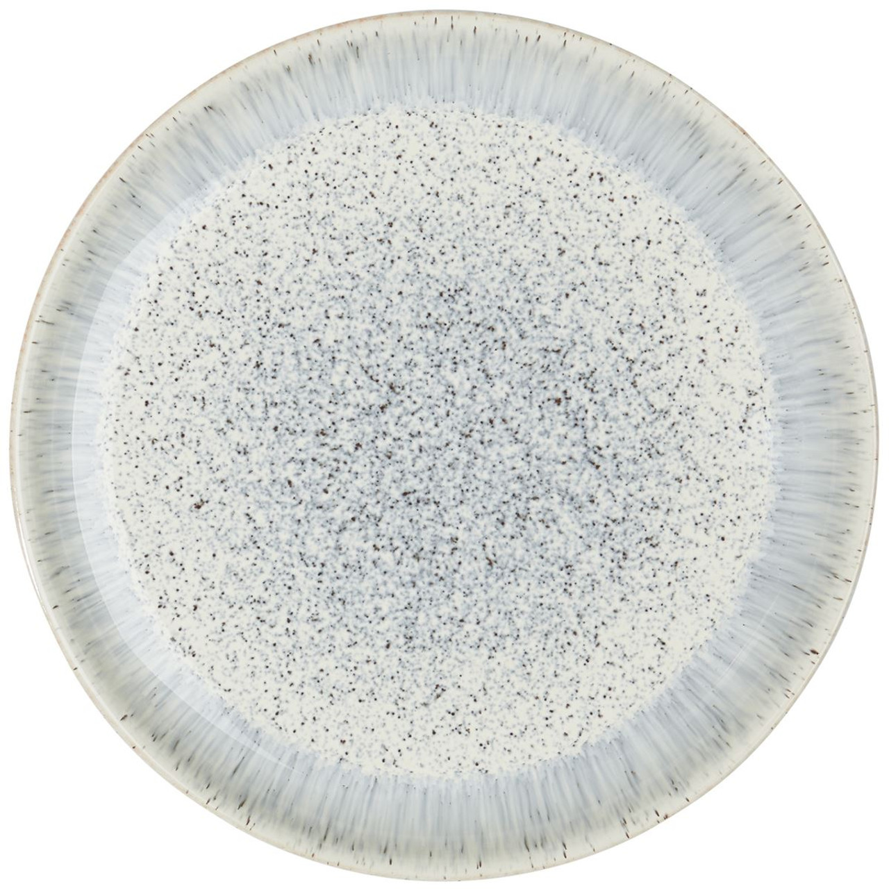 Denby Halo Speckle Coupe Dinner Plate