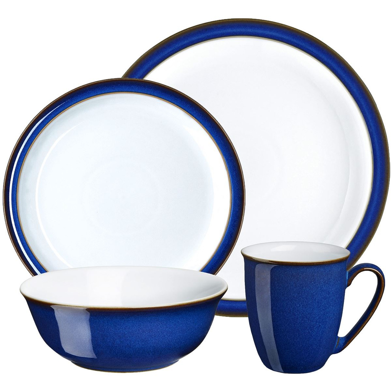 Denby Imperial Blue 16 Piece Dinner Set