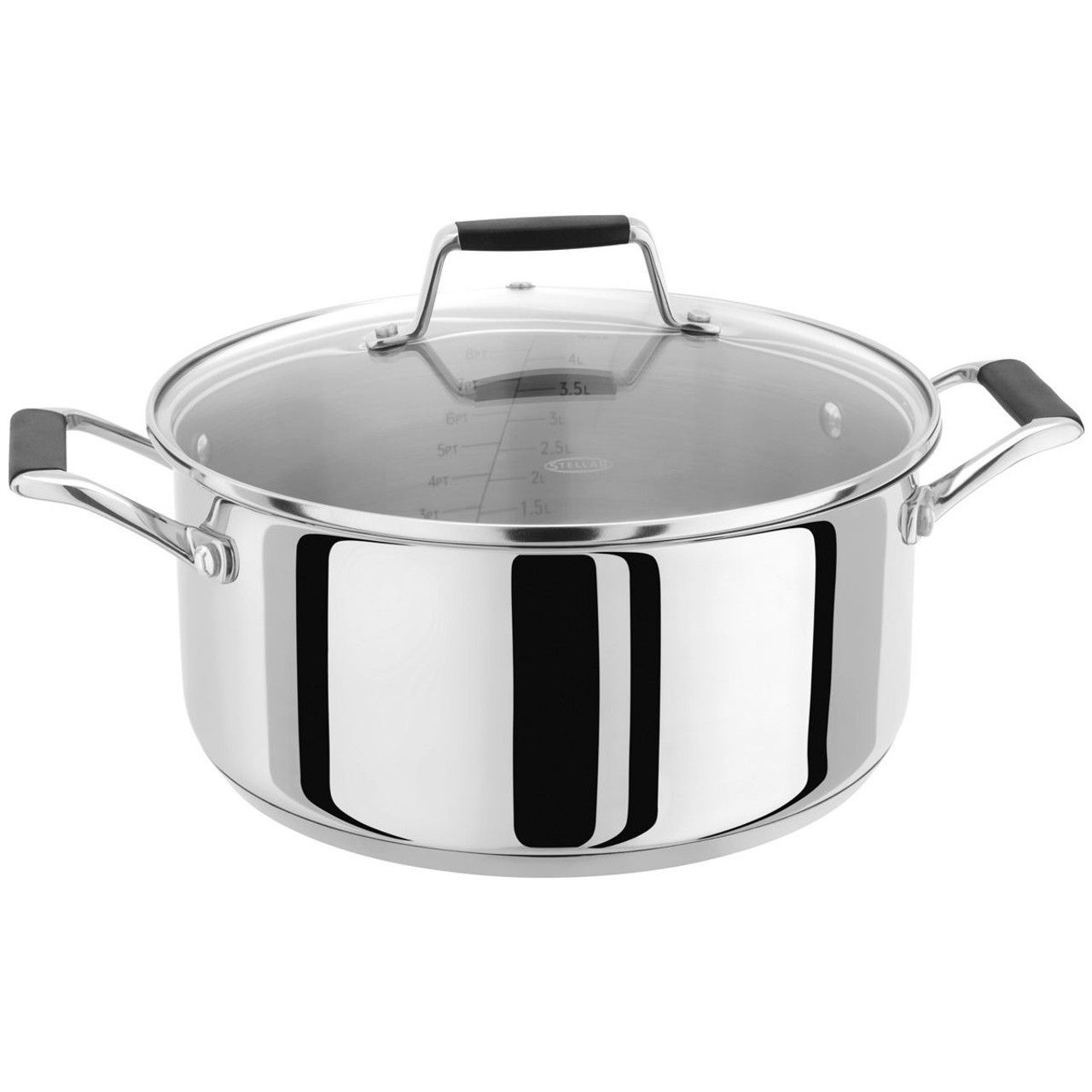 Stellar Induction Casserole Pot with Measuring Guide