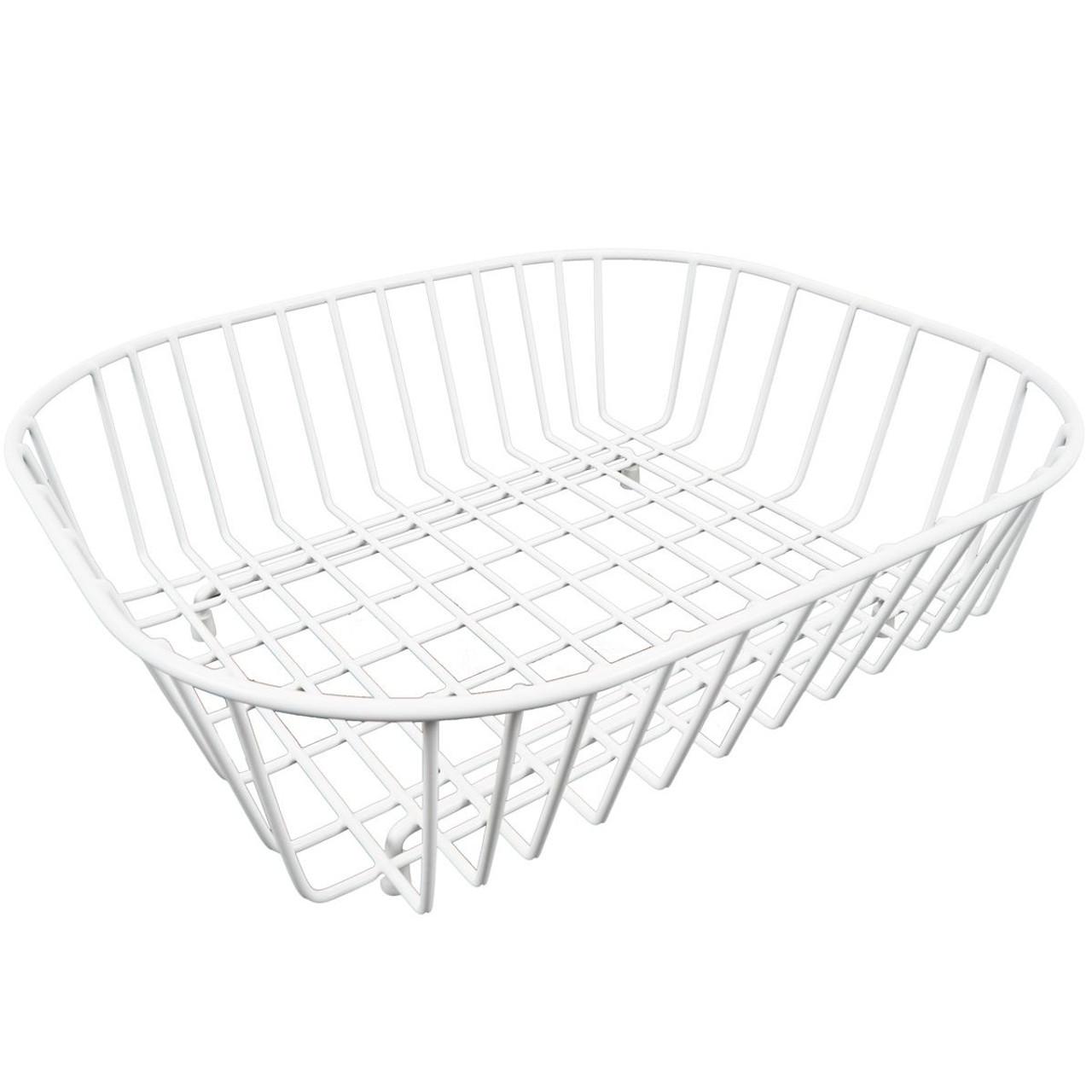 Delfinware Oval Sink Basket in White