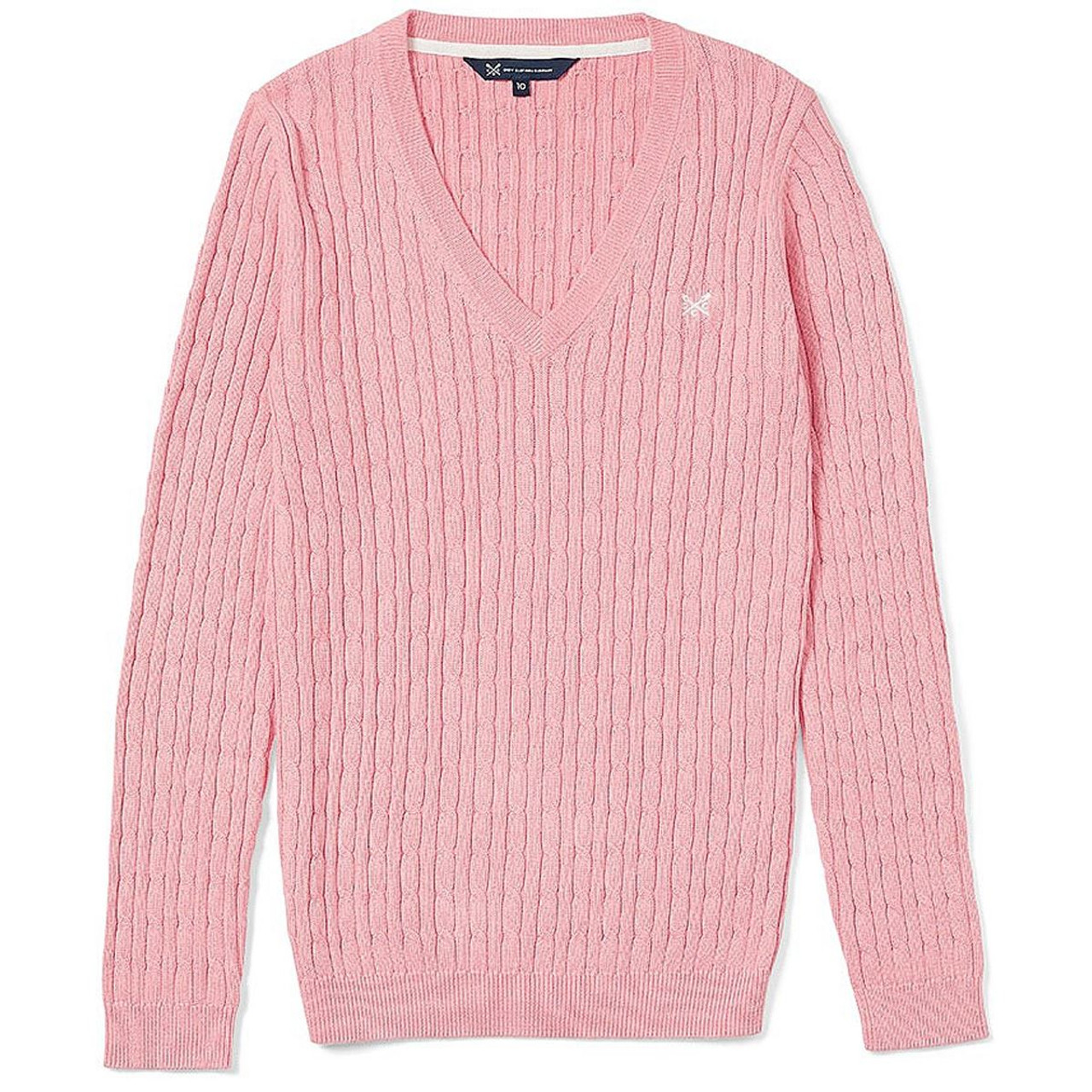 Crew Clothing Ladies Heritage V Cable Knit