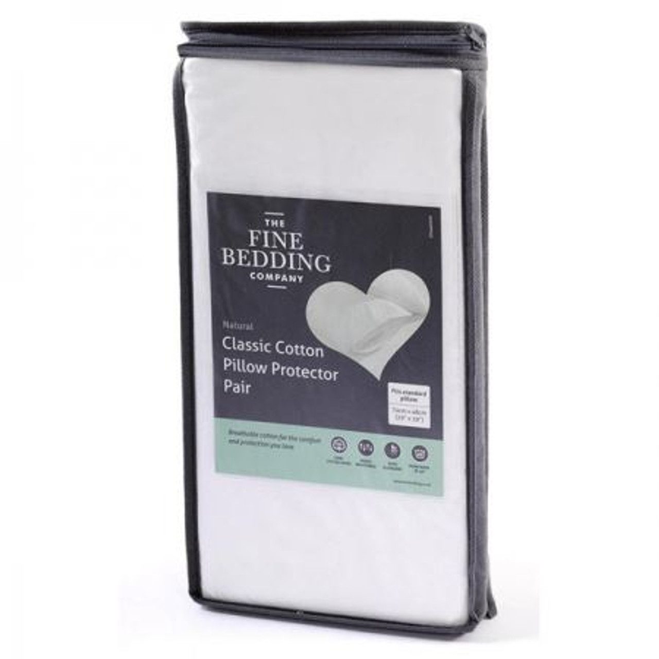 The Fine Bedding Company Classic Cotton Pillow Protector Pair