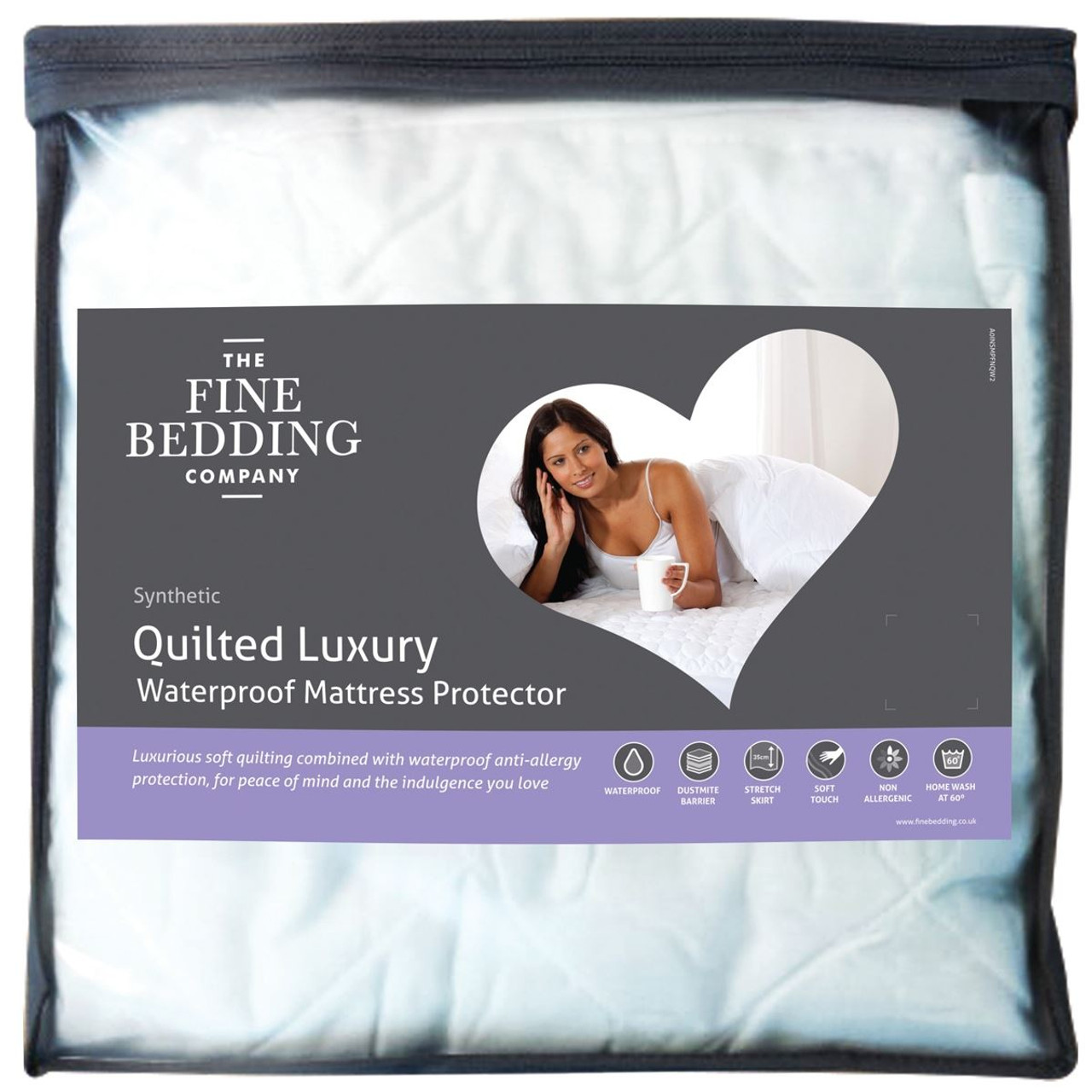 The Fine Bedding Company Quilted Luxury Waterproof Mattress Protector