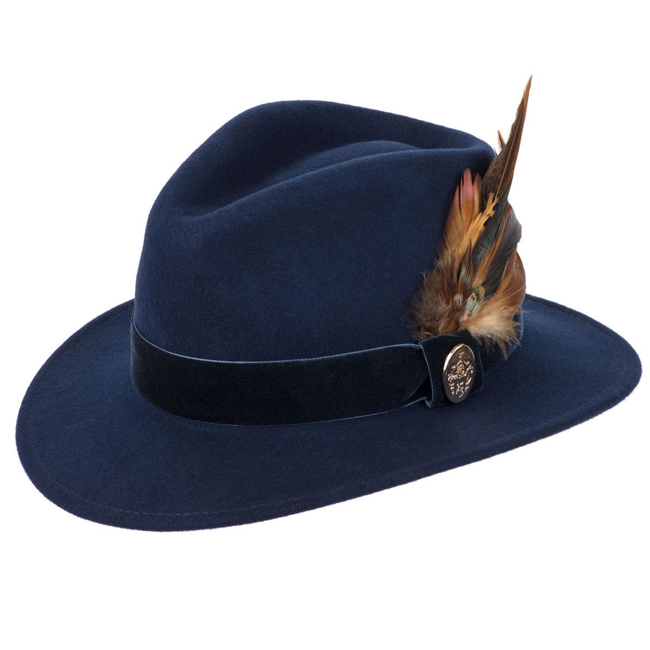 Hicks & Brown Chelsworth Fedora Coque & Pheasant