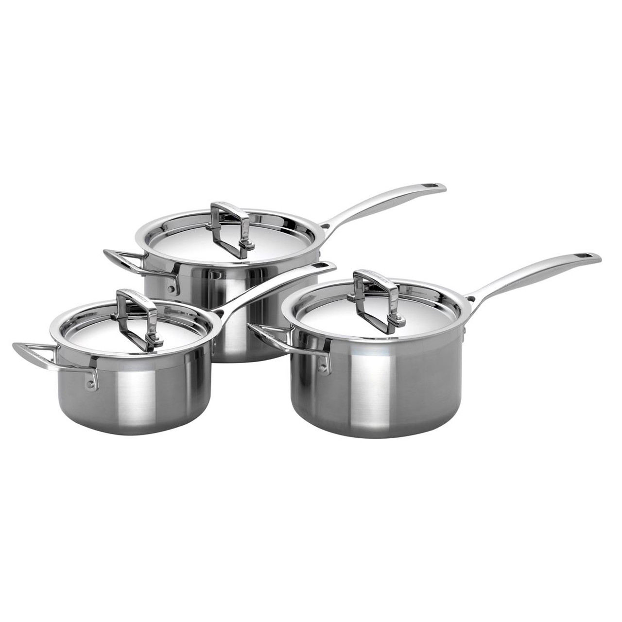 Le Creuset 3 Ply Stainless Steel Saucepan Set