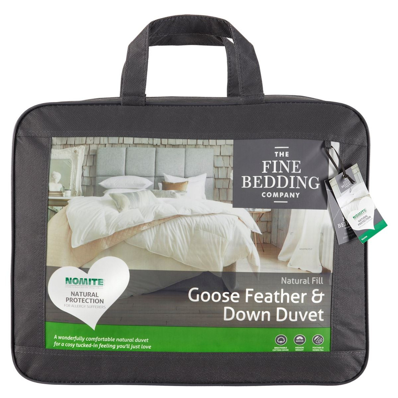 The Fine Bedding Company Goose Feather & Down Duvet packaging