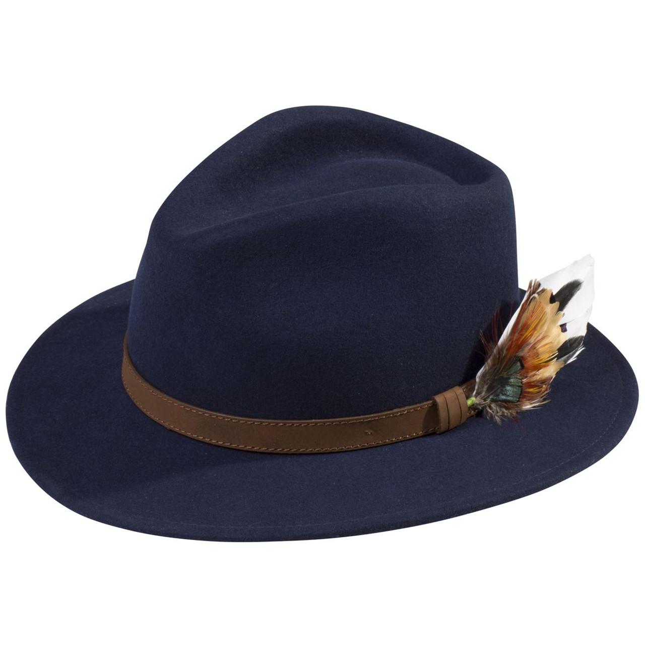 Navy Alan Paine Unisex Richmond Felt Hat