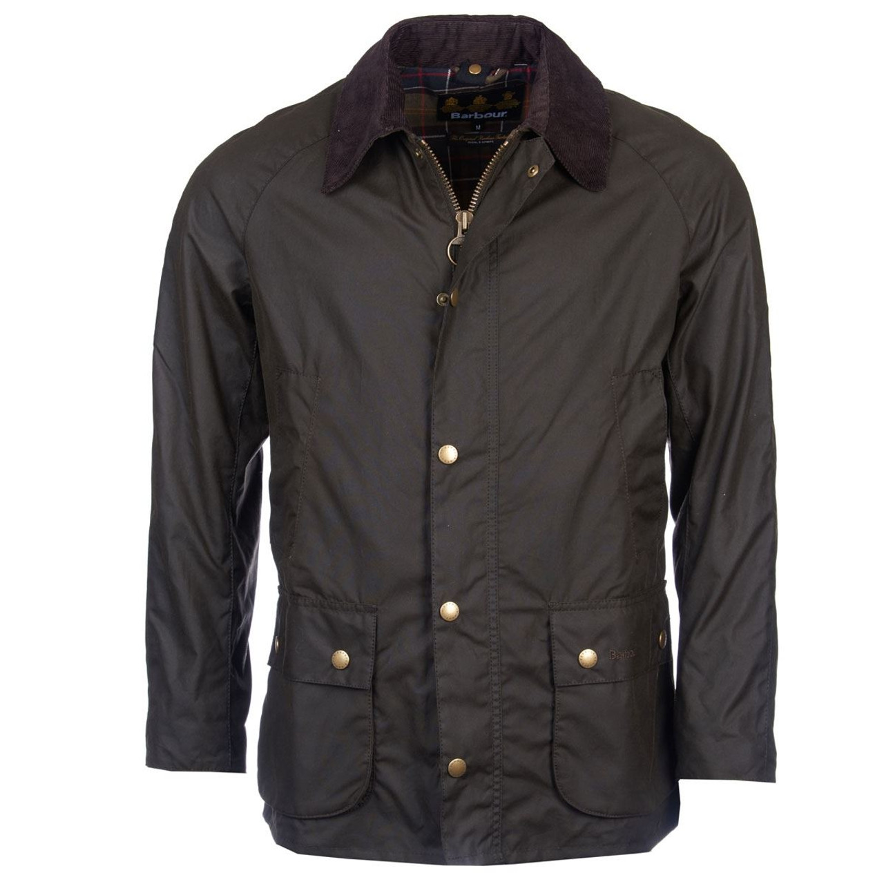 Olive Barbour Mens Ashby Wax Jacket