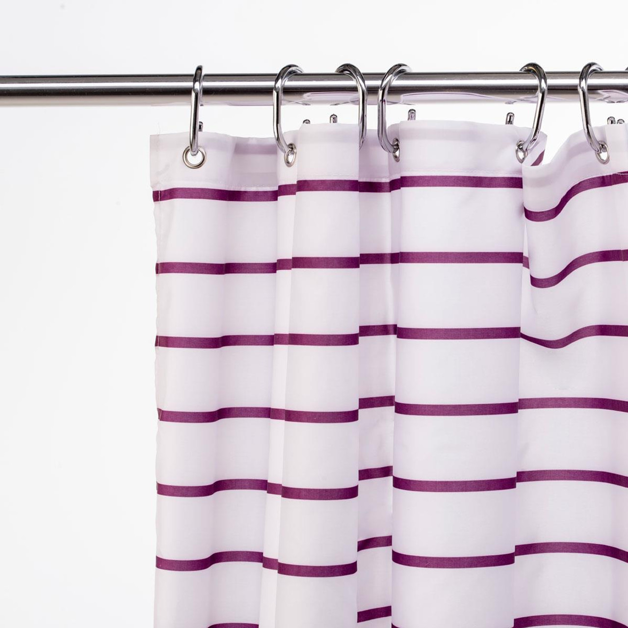 Croydex Polyester Patterned Textile Shower Curtain