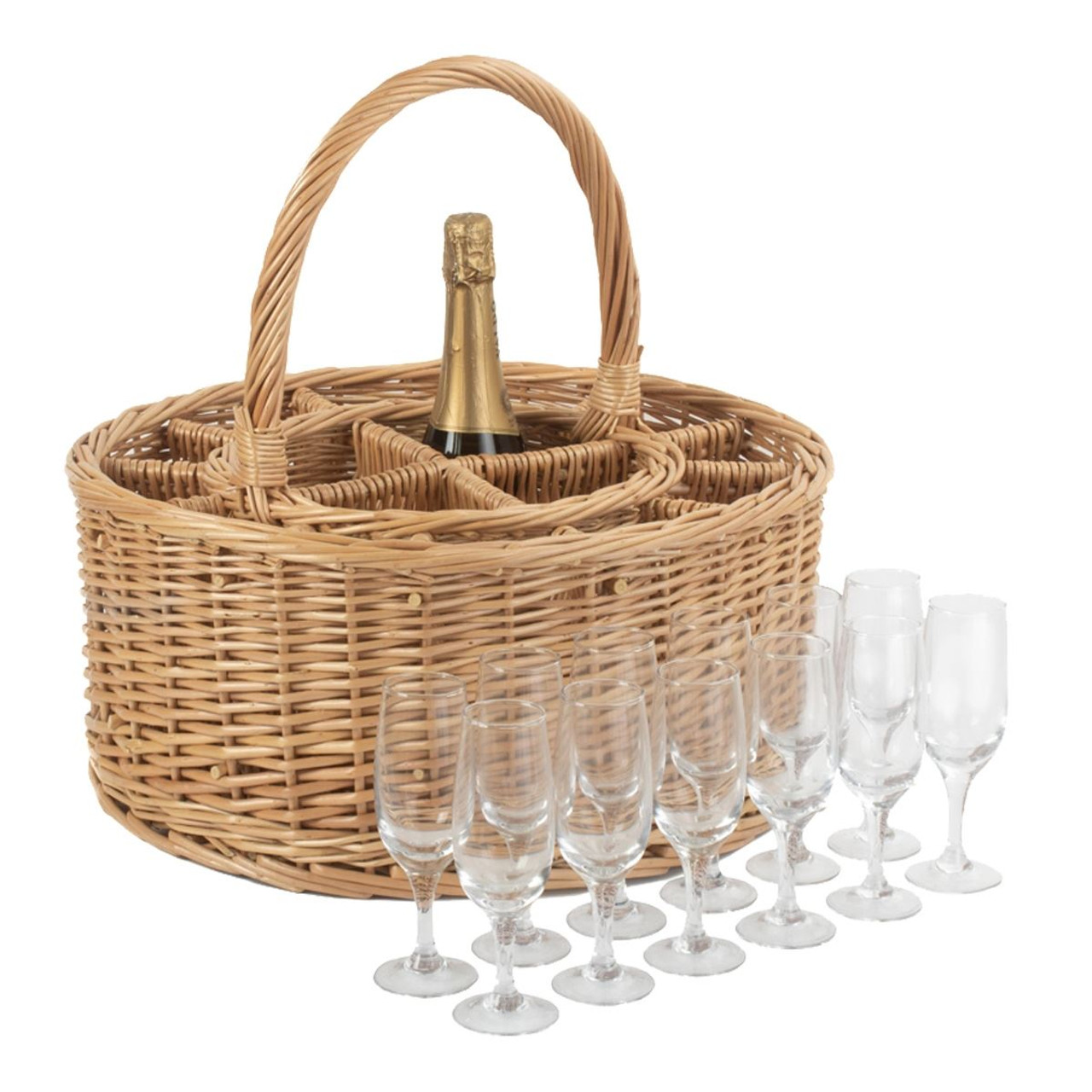 Willow Drinks Party Basket and Glasses