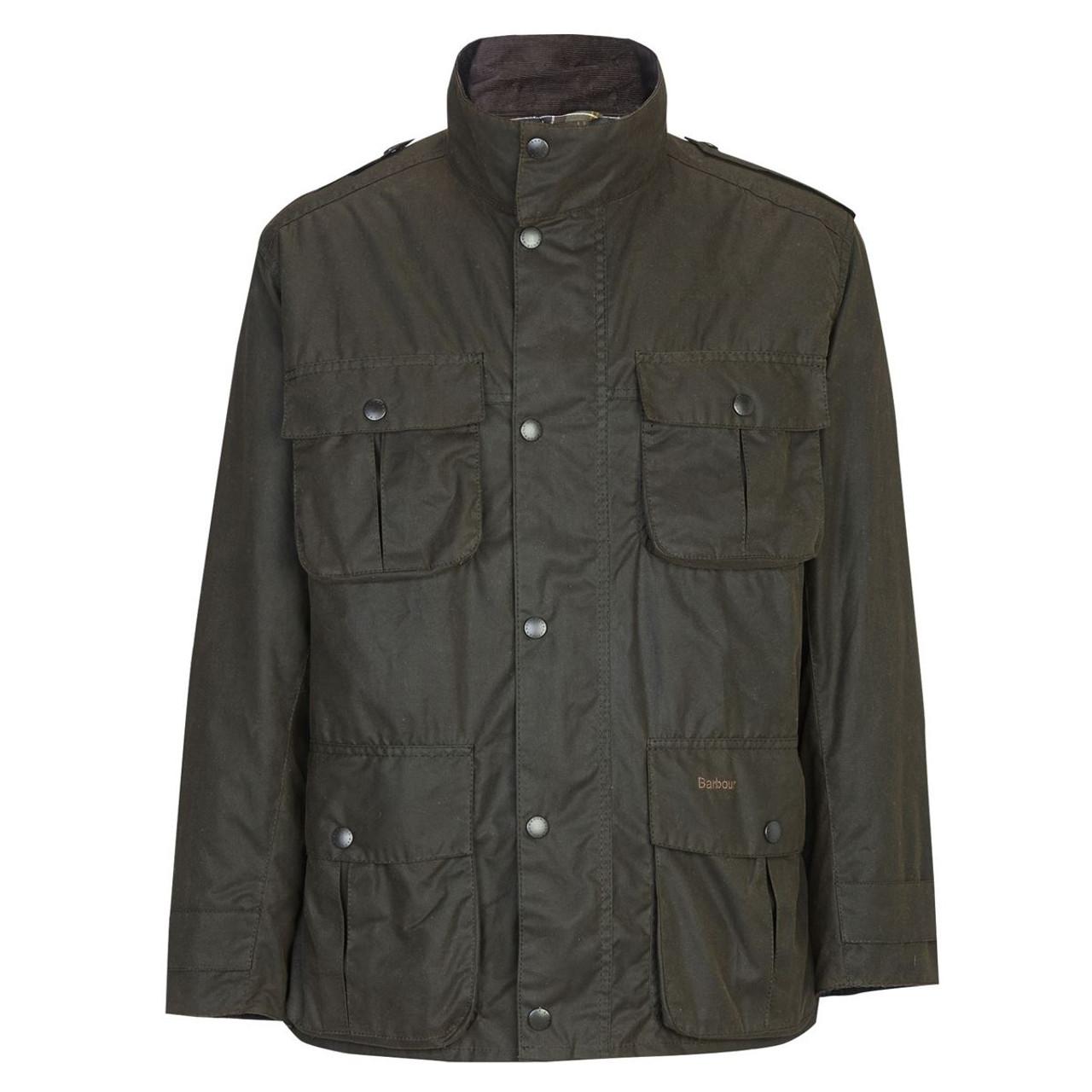 Olive Barbour Mens Corbridge Wax Jacket
