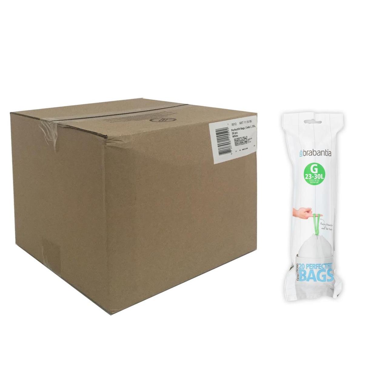 5 Litre Brabantia Waste Bin Liners PerfectFit Bags Size Code B 20 Pack 5L