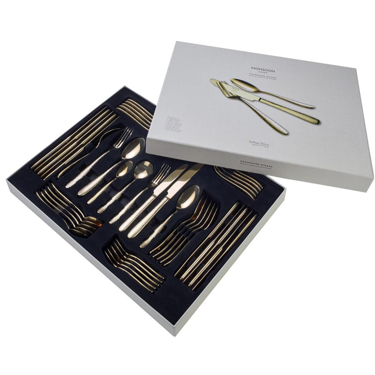 Arthur Price Monsoon Champagne Mirage 44 Piece Cutlery Set