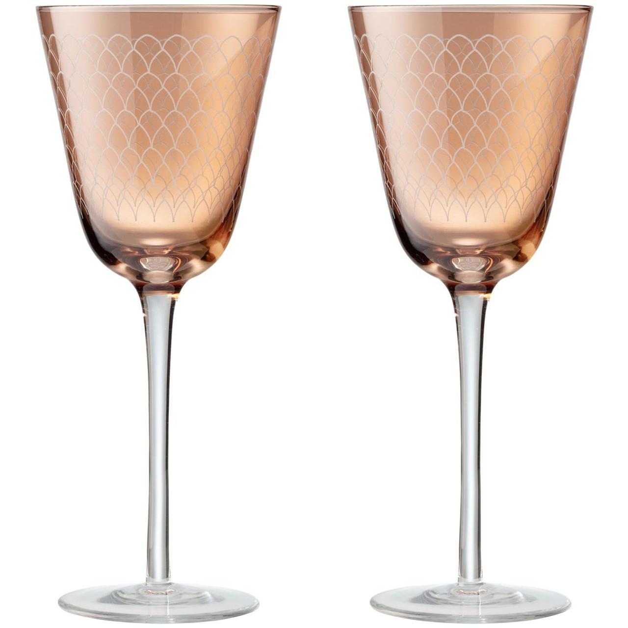 Denby Monsoon Mandala Set Of 2 Wine Glasses