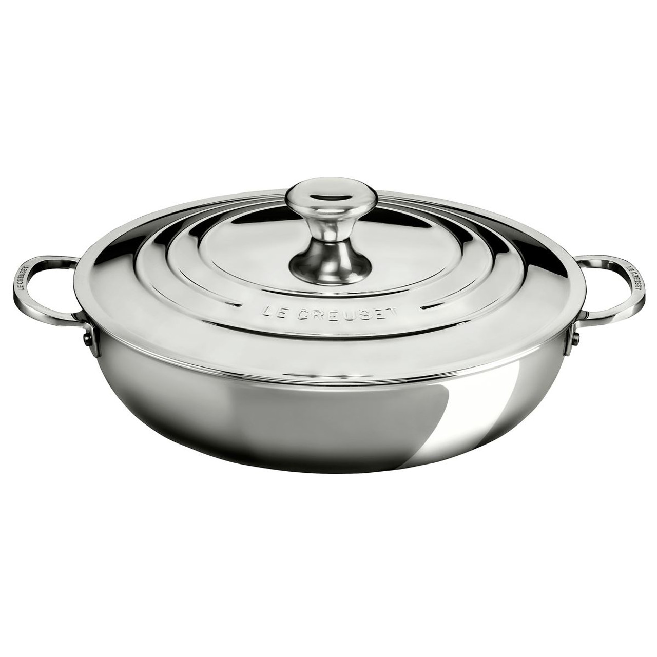 Le Creuset 30cm Stainless Steel Shallow Casserole