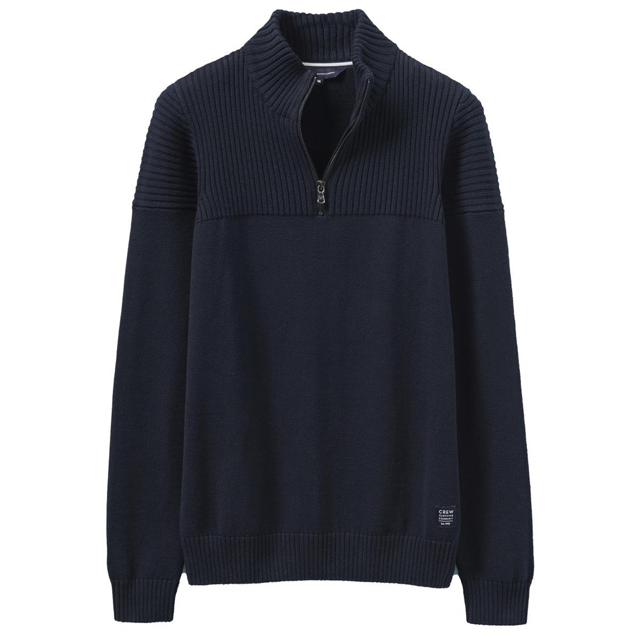 Crew Clothing Mens Textured Half Zip