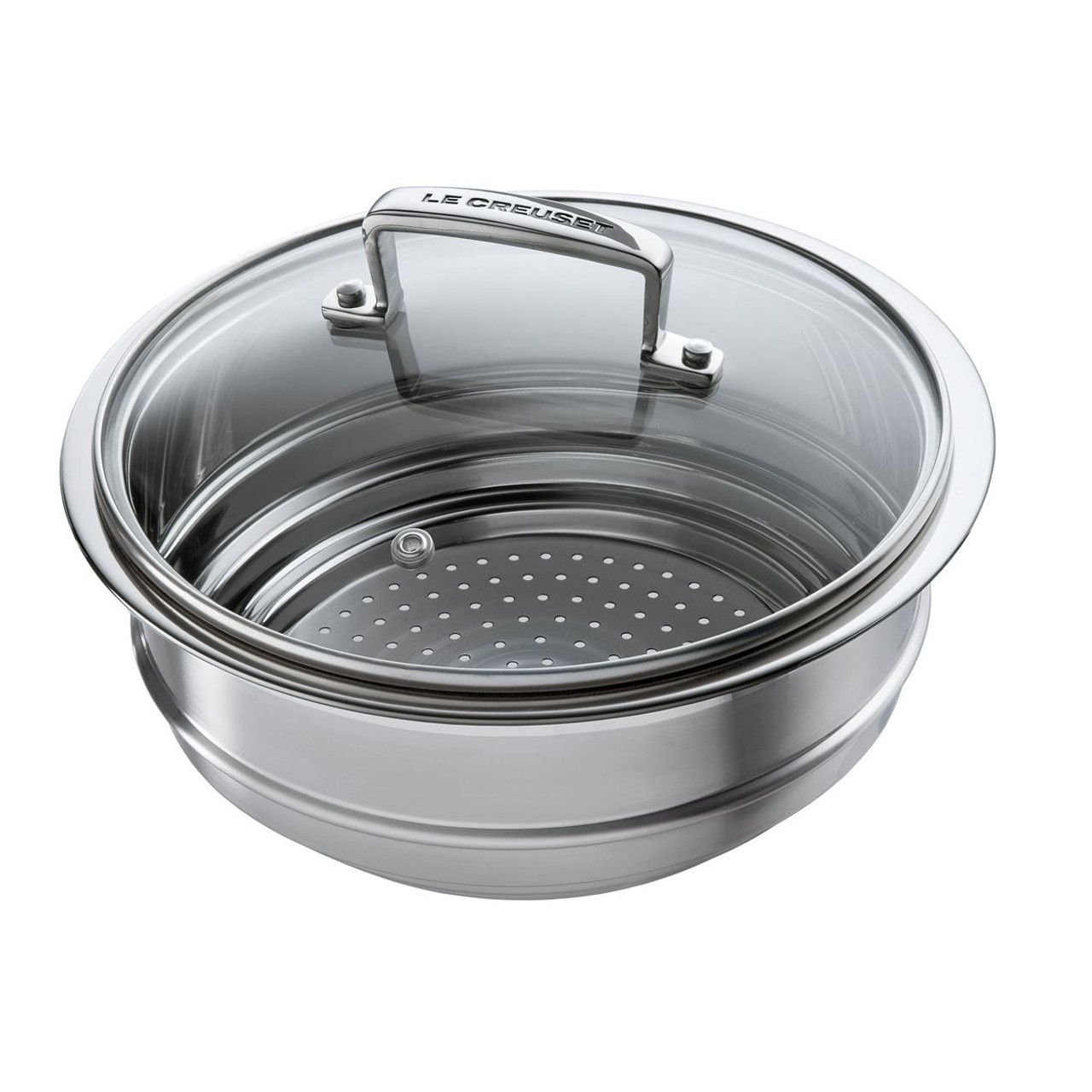 Le Creuset Stainless Steel Multi-Steamer With Glass Lid
