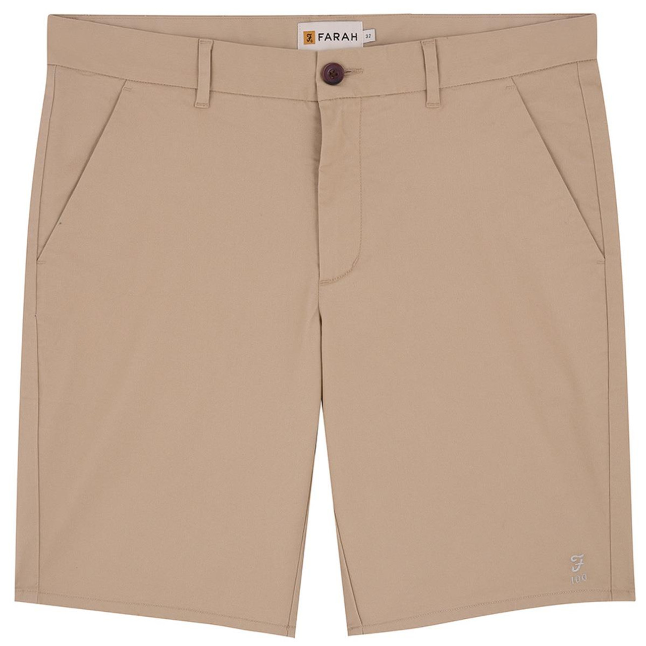 Burnt Sand Farah Mens Bassett Chino Shorts