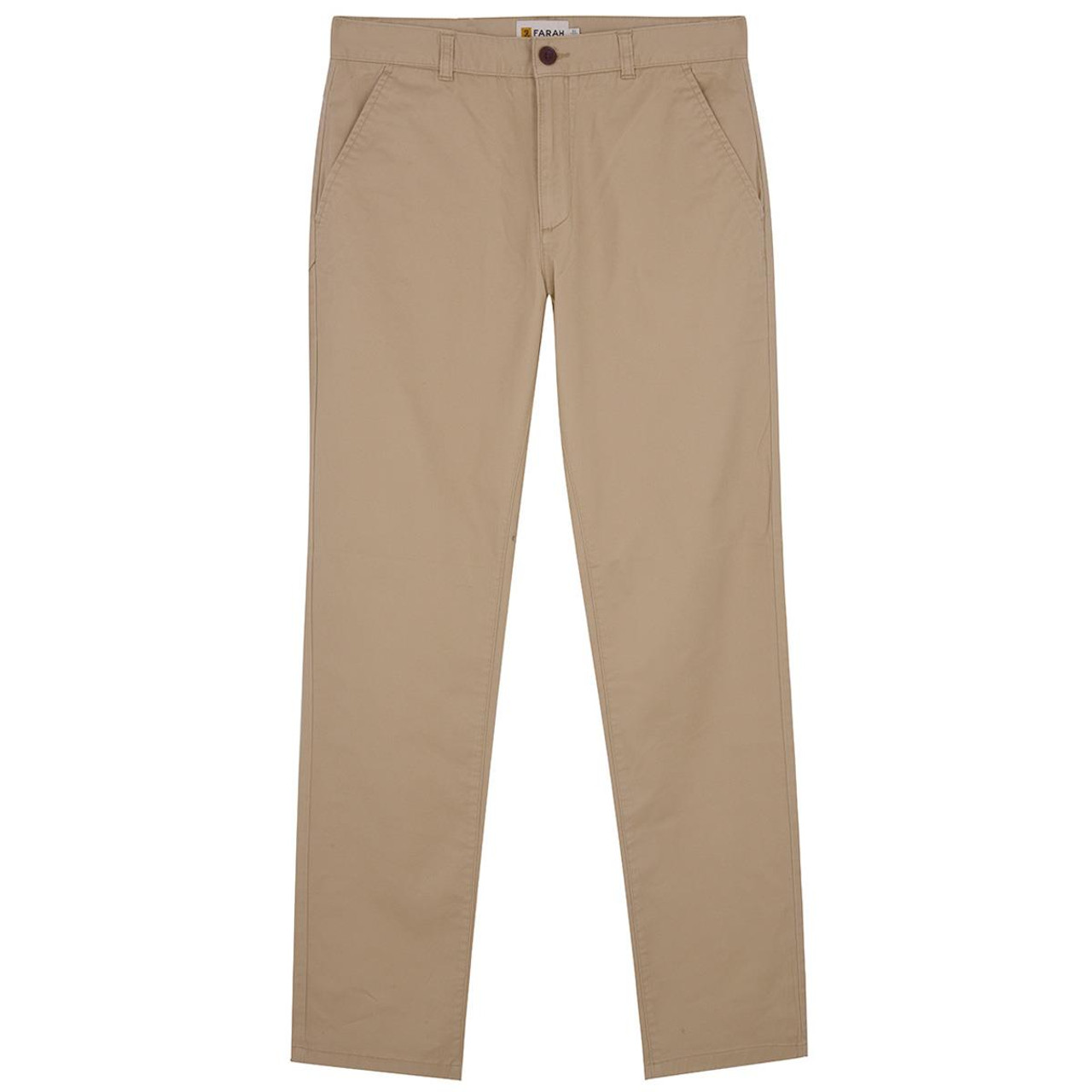 Burnt Sand Farah Mens Crane Stretch Chinos