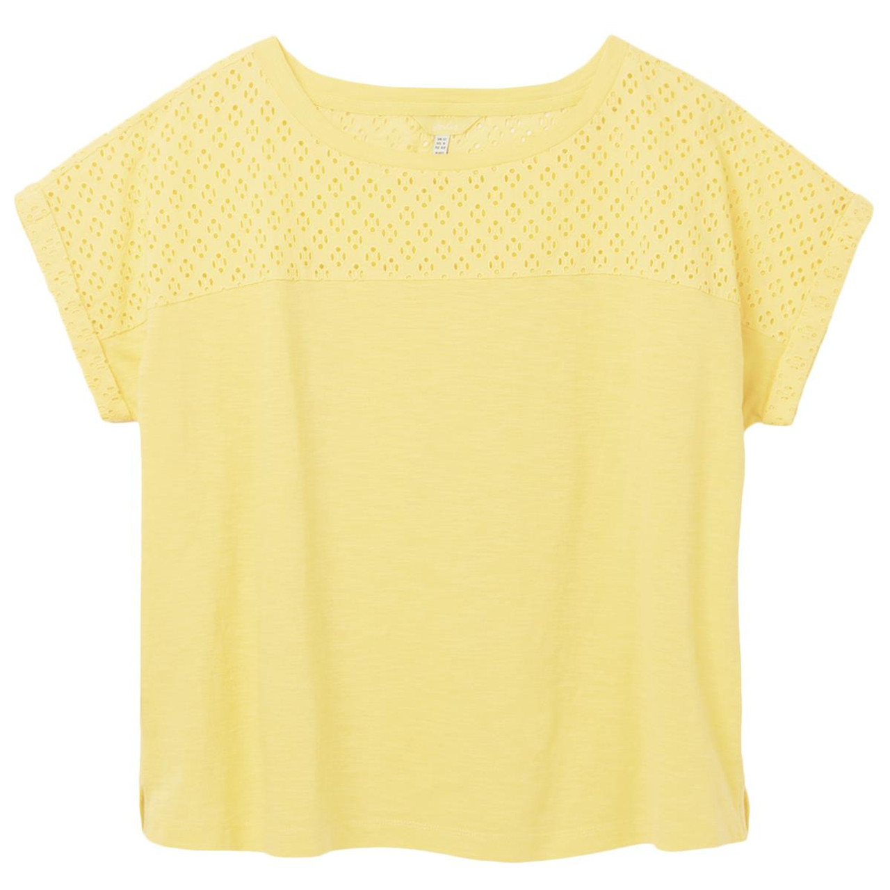Joules Cassi Fabric Mix Jersey Top