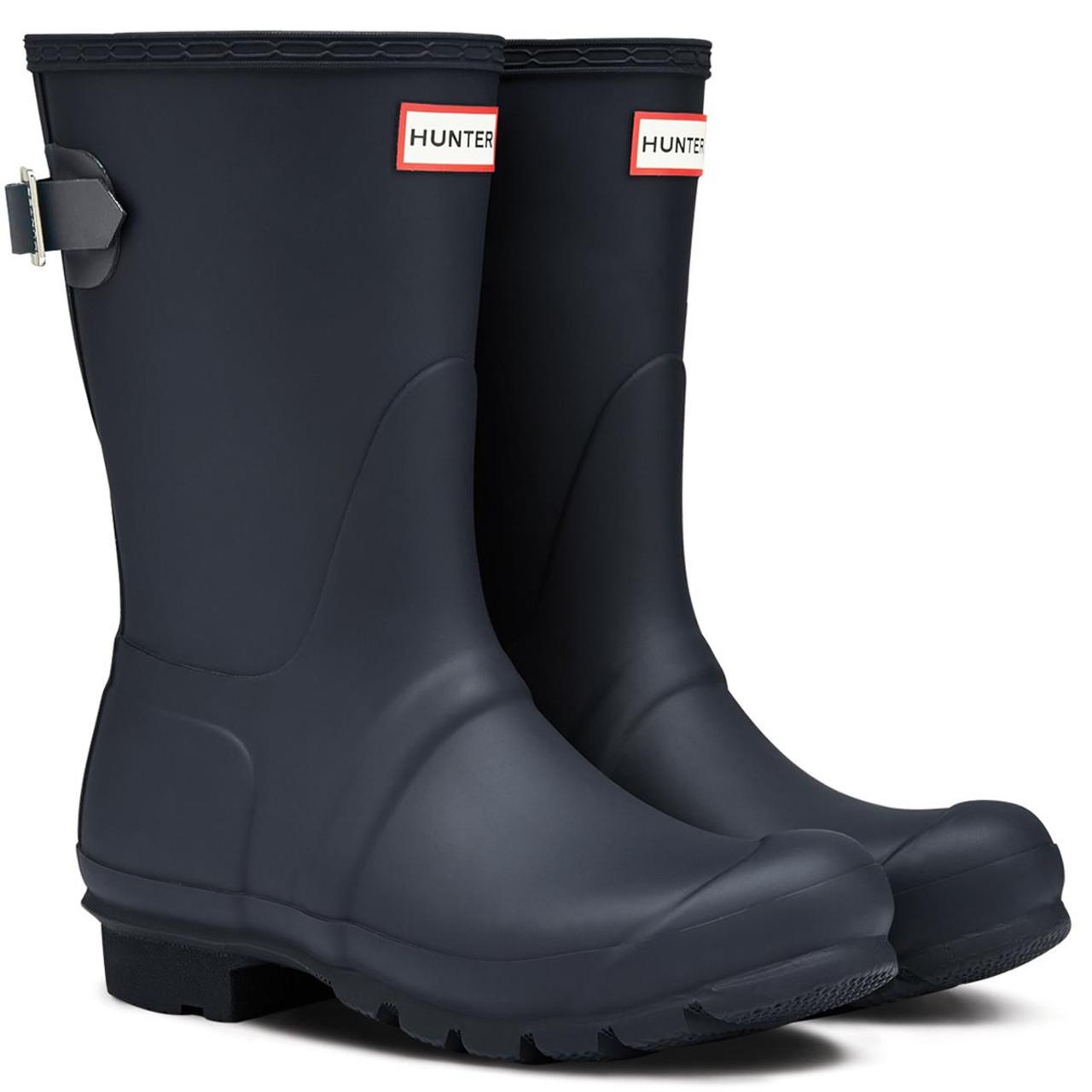 Hunter Womens Original Short Back Adjustable Wellington Boots