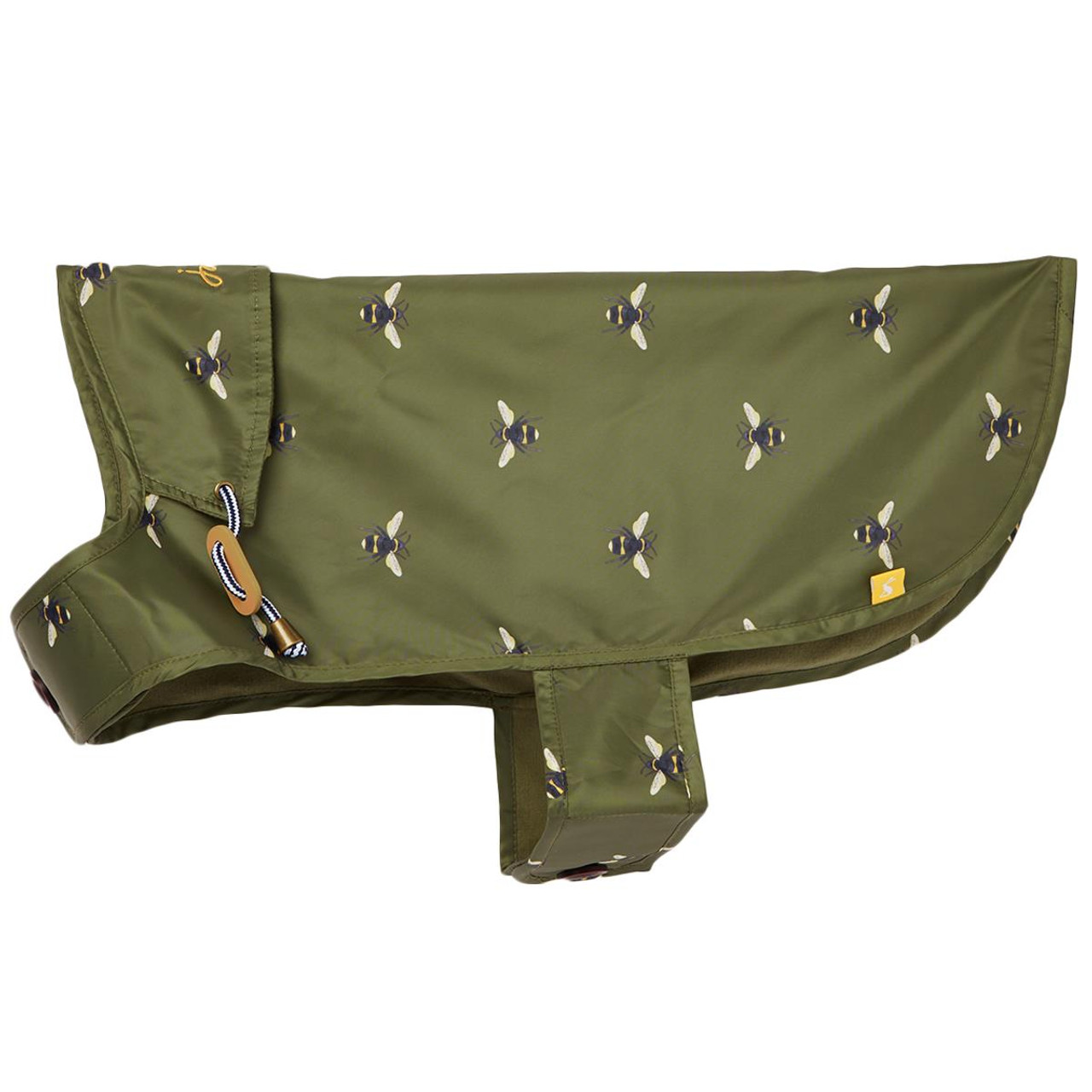 Khaki Green Bee Water Resistant Dog Coat