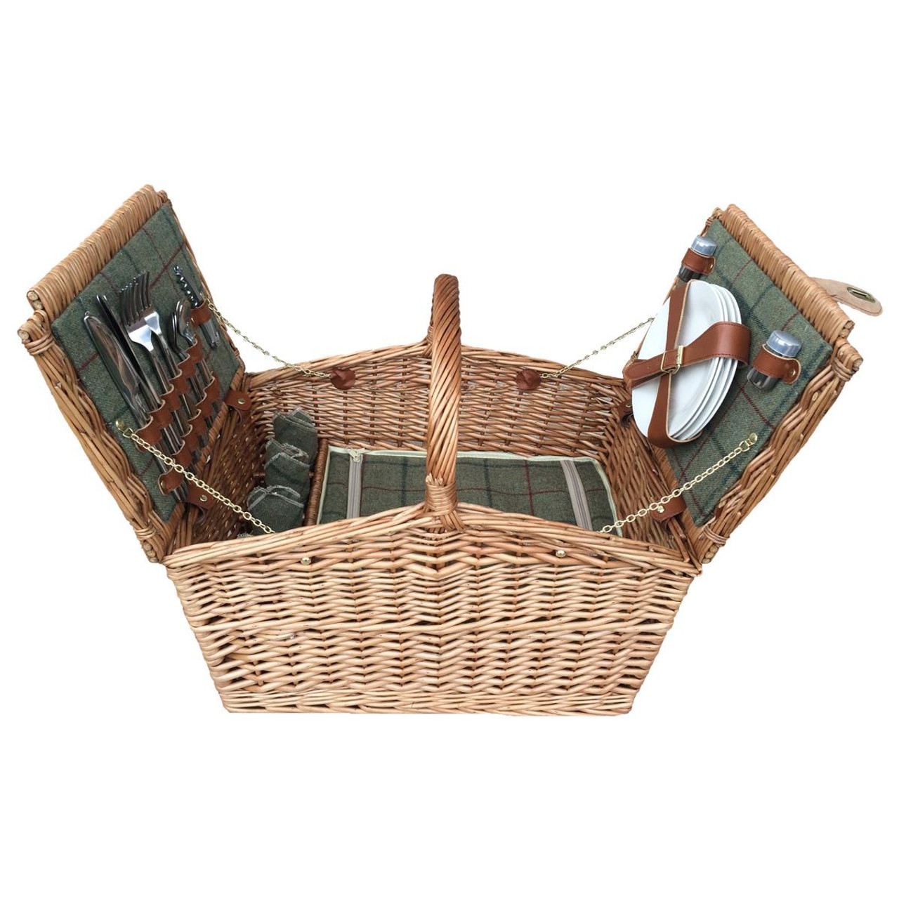Green Tweed Hamper