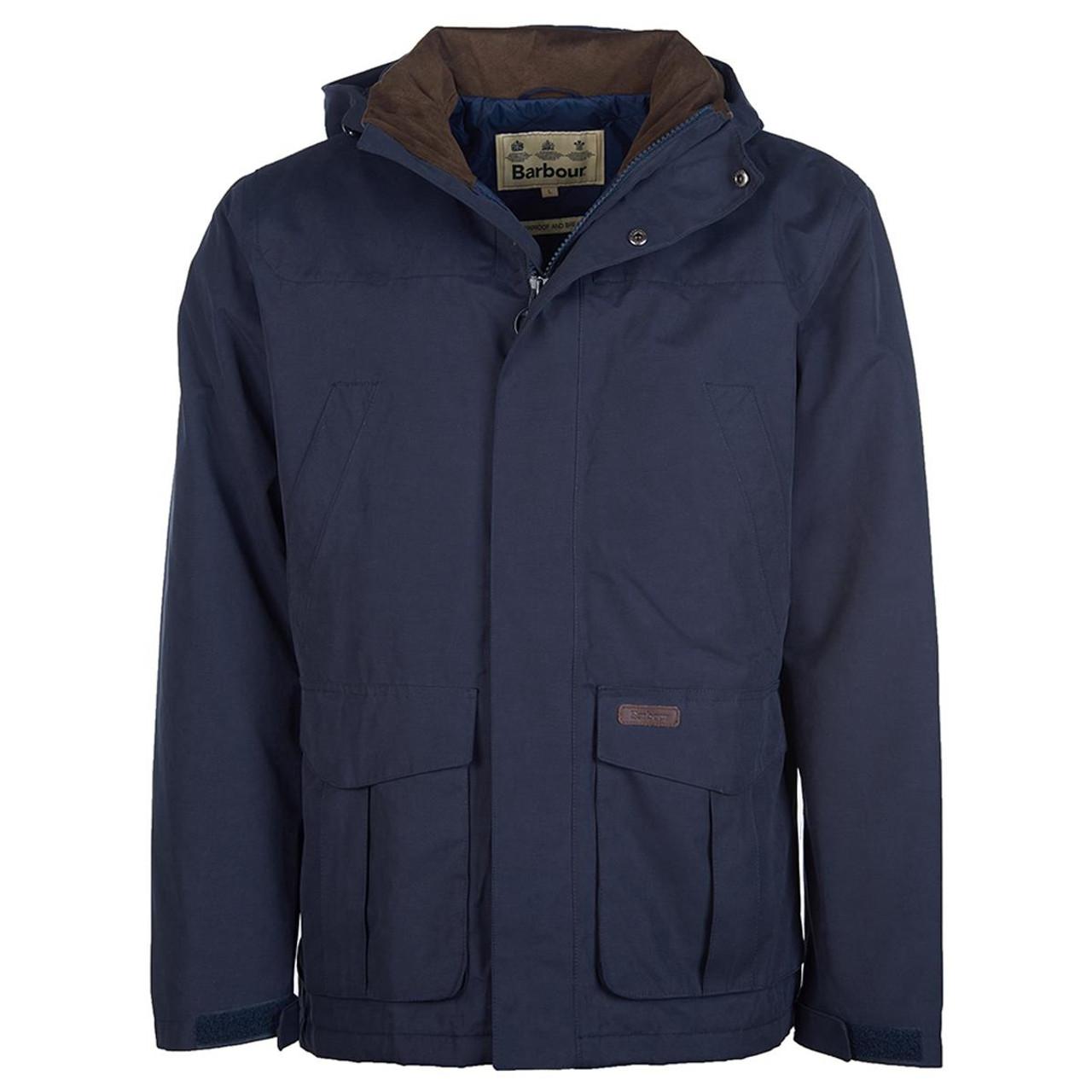 Navy Barbour Brockstone Jacket