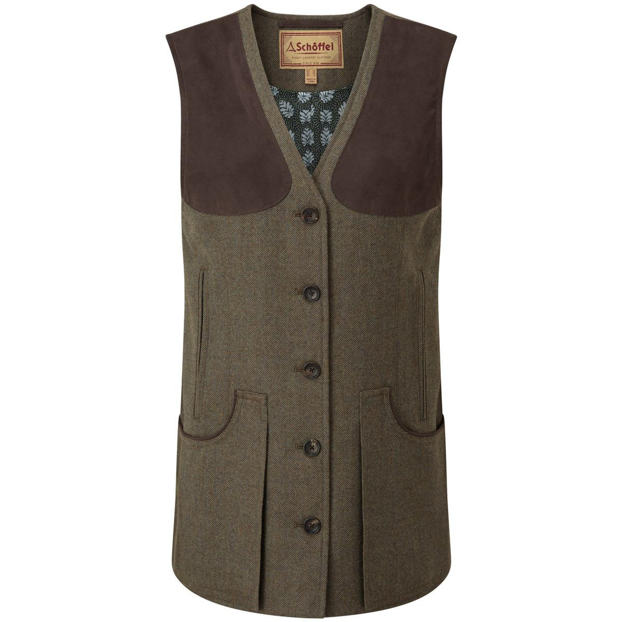 Loden Green Herringbone Tweed