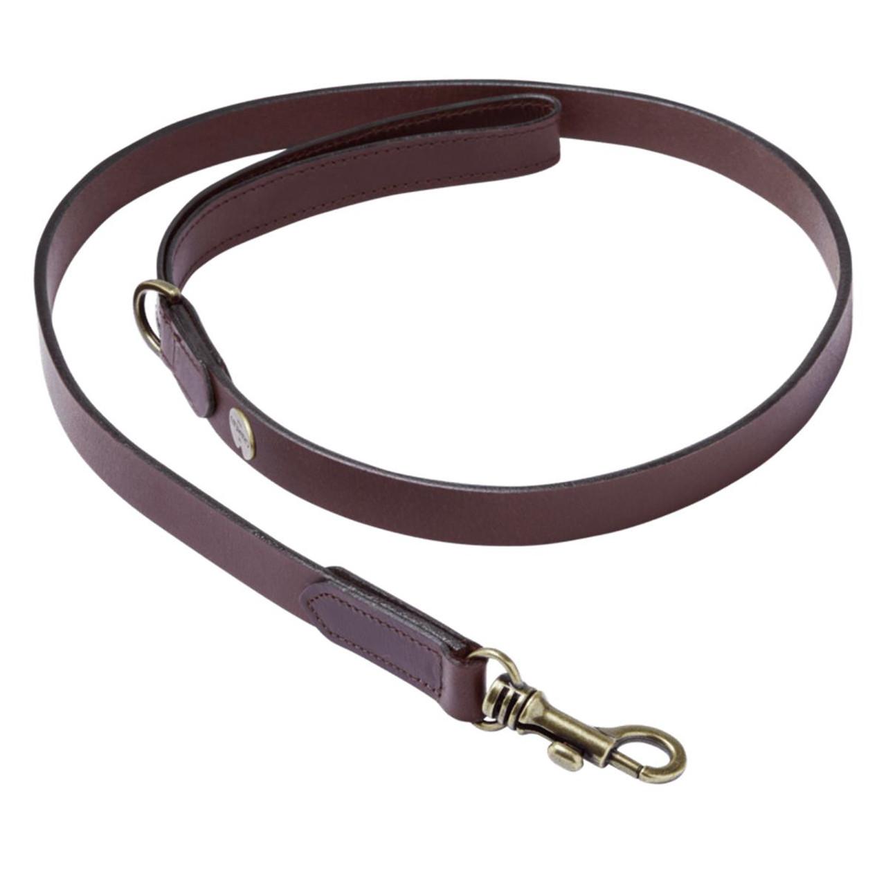 Marron Fonce Le Chameau Leather Dog Lead