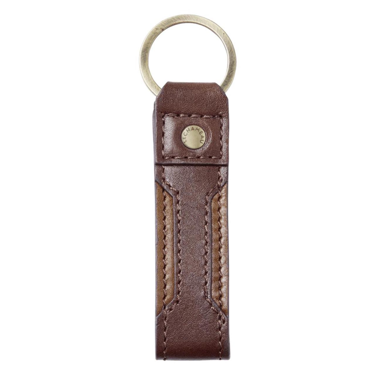 Marron Fonce Le Chameau Leather Jameson Key Ring