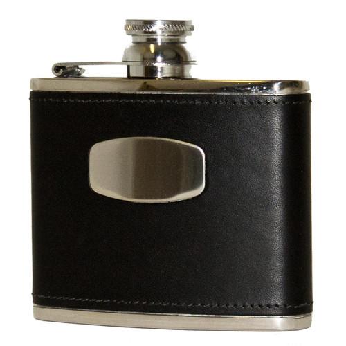 Black Bisley Leather Flask 4oz