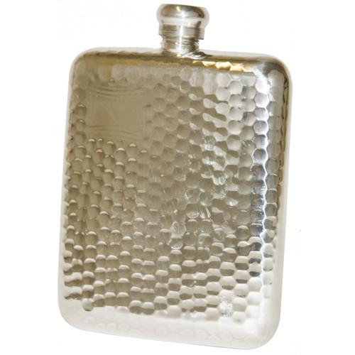 Pewter Bisley 6oz Hammered Flask