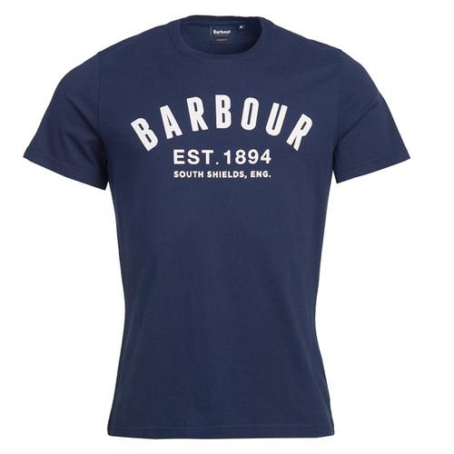 Navy Barbour Mens Ridge Logo Tee