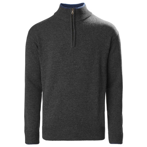 Charcoal Musto Mens Country Zip Neck Lambswool Knit