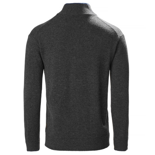 Charcoal Musto Mens Country Zip Neck Lambswool Knit Back