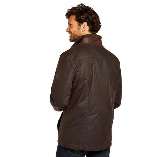 Dubarry Mens Carrickfergus Waxed Jacket Rear