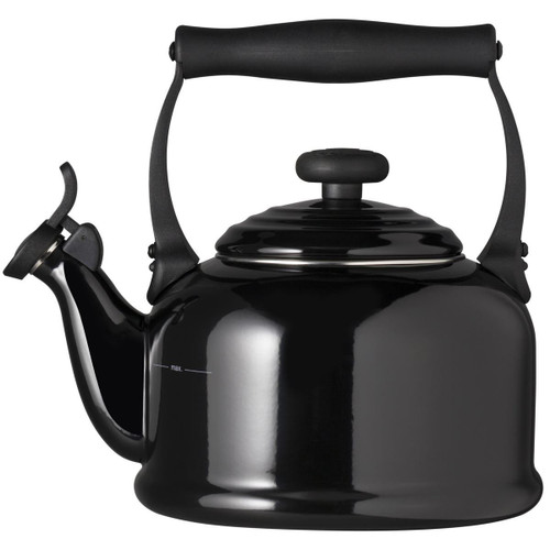 Black Le Creuset Traditional Fixed Whistle Kettle