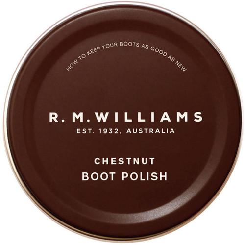 Chestnut R.M. Williams Stockmans Boot Polish