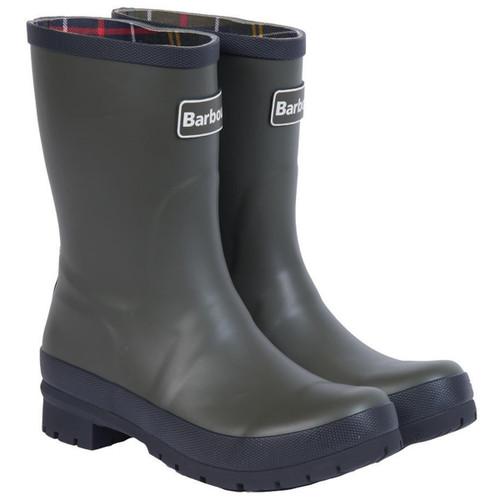 Olive Barbour Womens Banbury Wellington Boots